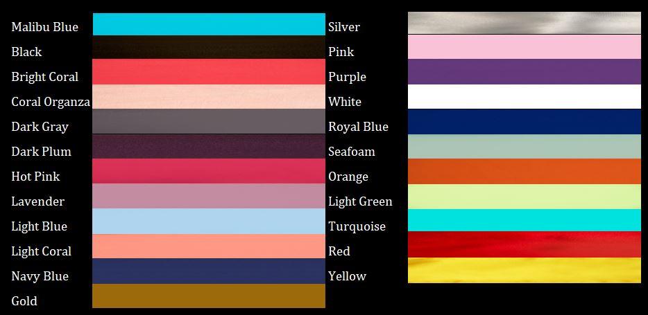 Chair Sash Colors